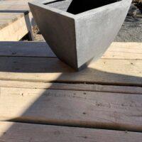 faux stone container pot
