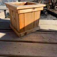 small cedar container pot