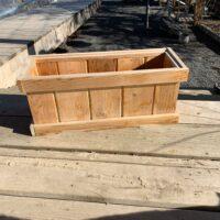 rectangle cedar container pot