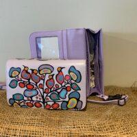purple wallet/purse