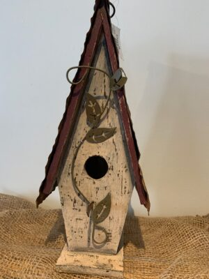 tin roofed bird house