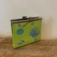 green coin purse with clasp