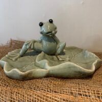froggie insect and bird water bowl