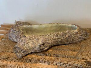 faux log houseplant pot
