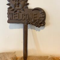 welcome garden stake