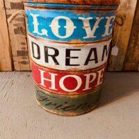 love dream hope garden ottoman