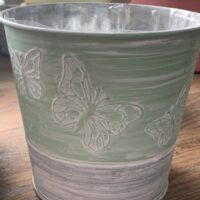 tin butterfly pot