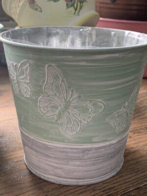 tin butterfly pot
