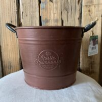 copper bucket houseplant container