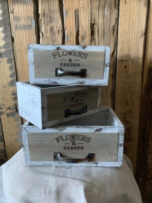 Wooden flower crate