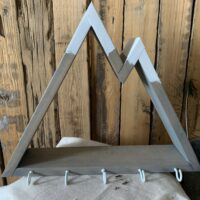 mountain wall shelf with hooks