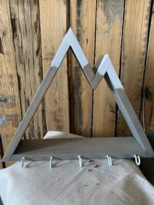 mountain wall shelf with hooks